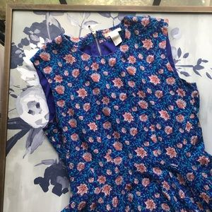 H&M Blue Floral Dress Size 12
